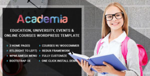Download free Academia v2.9 – Education Center WordPress Theme
