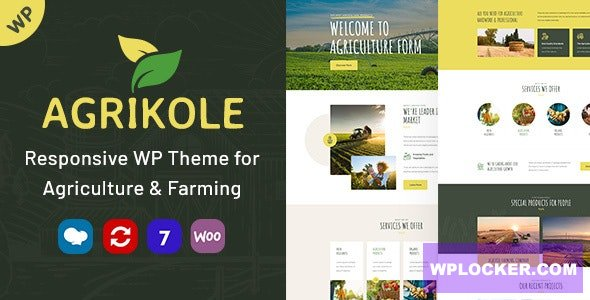 Download free Agrikole v1.1 – Responsive WordPress Theme for Agriculture & Farming