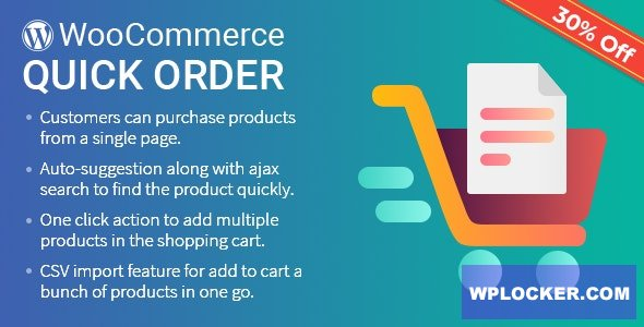 Download free B2B Quick Order Plugin for WooCommerce v1.2.2