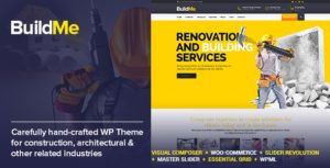 Download free BuildMe v4.2 – Construction & Architectural WP Theme
