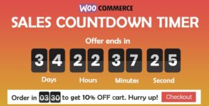 Download free Checkout Countdown v1.0.1.1 – Sales Countdown Timer for WooCommerce and WordPress