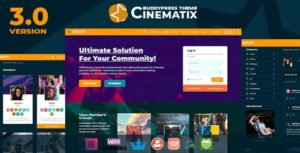 Download free Cinematix v3.0.4 – BuddyPress Nouveau Membership Theme
