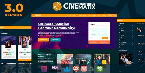 Download free Cinematix v3.0.4 – BuddyPress Nouveau Membership Theme