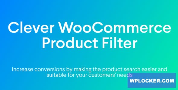 Download free Clever WooCommerce Product Filter v1.0.0