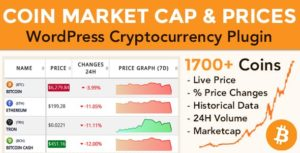 Download free Coin Market Cap & Prices v3.8 – WordPress Cryptocurrency Plugin