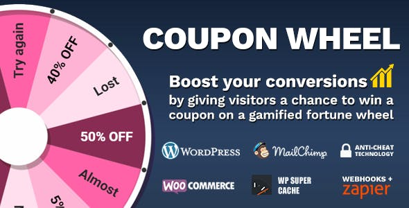 Download free Coupon Wheel For WooCommerce and WordPress v3.2.1