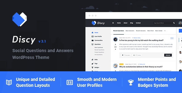 Download free Discy v4.0 – Social Questions and Answers WordPress Theme
