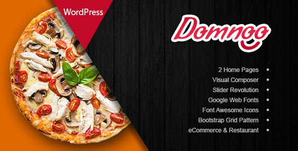 Download free Domnoo v1.22 – Pizza & Restaurant WordPress Theme