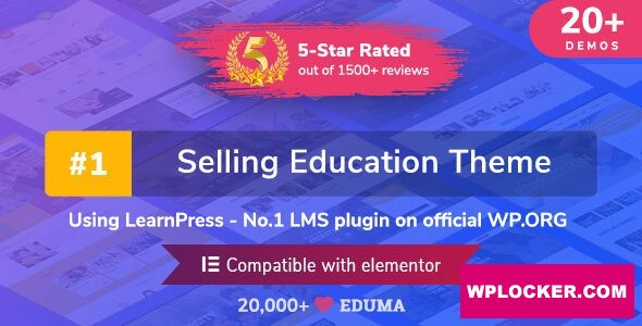 Download free Eduma v4.2.8.2 – Education WordPress Theme