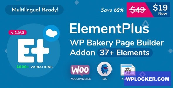 Download free Element Plus v1.9.4 – WPBakery Page Builder Addon