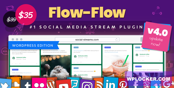 Download free Flow-Flow v4.1.32 – WordPress Social Stream Plugin