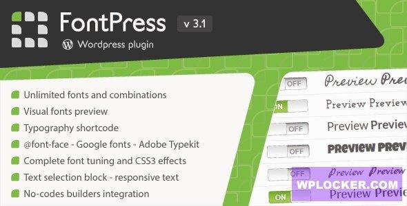 Download free FontPress v3.1 – WordPress Font Manager