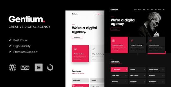 Download free Gentium v1.1.6 – A Creative Digital Agency WordPress Theme