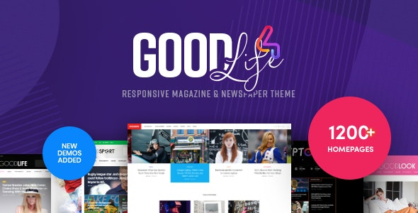 Download free GoodLife v4.2.0 – Responsive Magazine Theme
