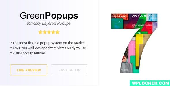 Download free Green Popups (formerly Layered Popups) v7.04 – Standalone Popup Script