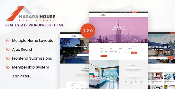 Download free Hasara House v1.2.0 – Real Estate Responsive WordPress Theme