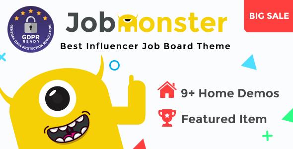 Download free Jobmonster v4.6.0.8 – Job Board WordPress Theme