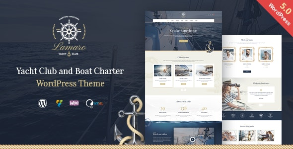 Download free Lamaro v1.2.2 – Yacht Club and Rental Boat Service WordPress Theme