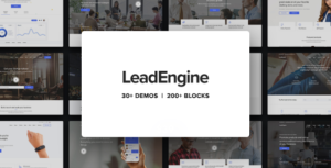 Download free LeadEngine v2.1 – Multi-Purpose Theme with Page Builder