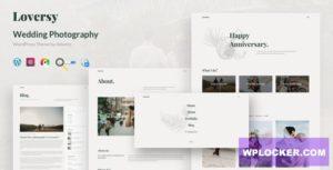 Download free Loversy v1.1.0 – Wedding Photography WordPress Theme