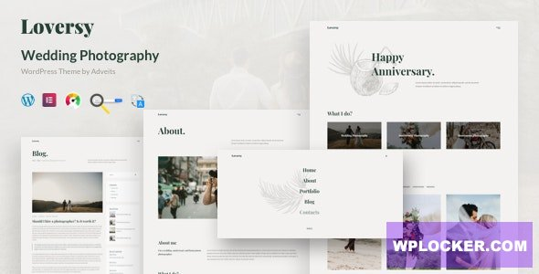 Download free Loversy v1.1.0 – Wedding Photography WordPress Theme