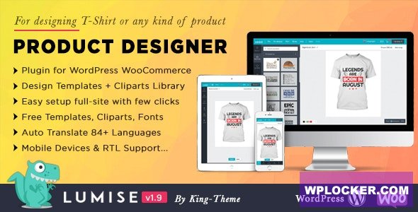Download free Lumise Product Designer v1.9.3 – WooCommerce WordPress