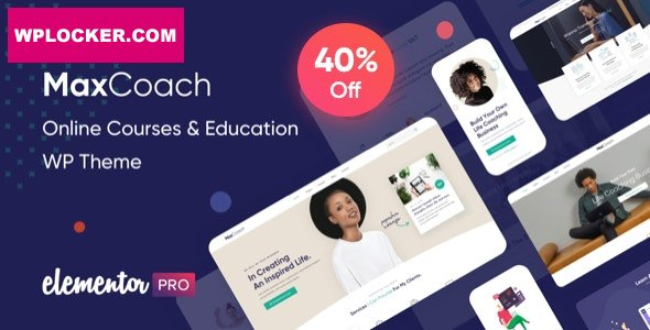 Download free MaxCoach v1.3.1 – Online Courses & Education WP Theme
