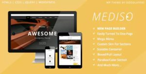 Download free Mediso v1.2.3 – Corporate / One-Page / Blogging WP Theme