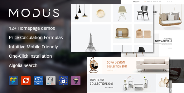 Download free Modus v1.5.9 – Modern Furniture WooCommerce Theme
