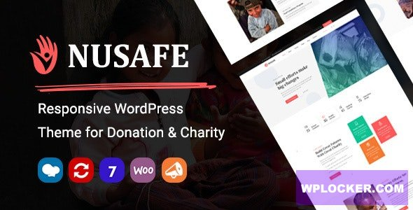 Download free Nusafe v1.0 – Responsive WordPress Theme for Donation & Charity