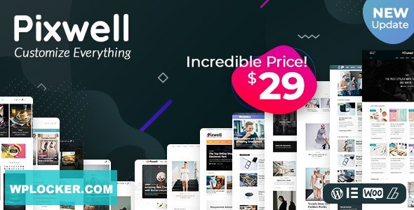 Download free Pixwell v4.4 – Modern Magazine
