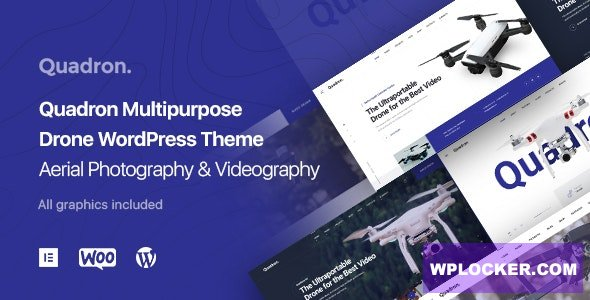 Download free Quadron v1.0.2 – Aerial Photography & Videography Drone WordPress Theme