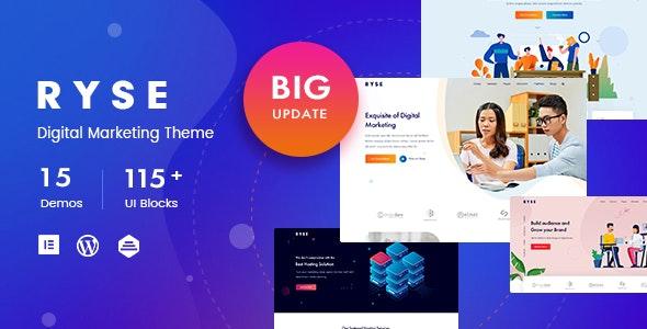 Download free Ryse v2.0.1 – SEO & Digital Marketing Theme