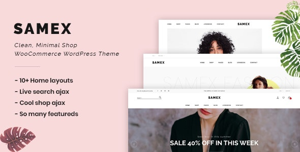 Download free Samex v1.5 – Clean, Minimal Shop WooCommerce WordPress Theme