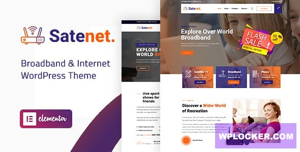 Download free Satenet v1.0.0 – Broadband & Internet WordPress Theme