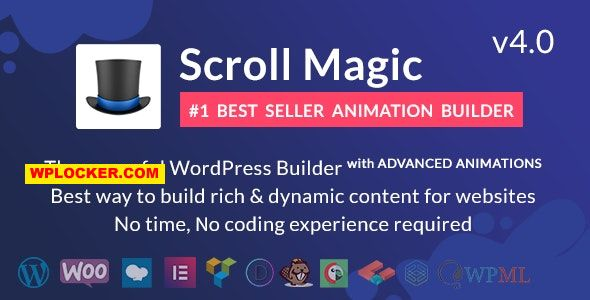 Download free Scroll Magic v4.0.2 – Scrolling Animation Builder Plugin