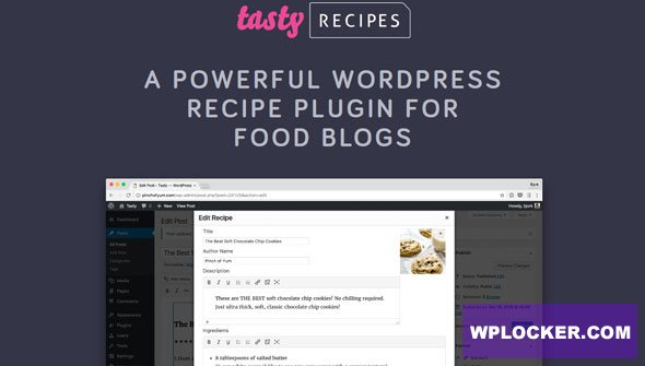 Download free Tasty Recipes v2.6.1 – Recipe Plugin For Food Blogs