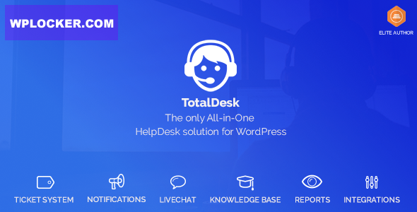 Download free TotalDesk v1.7.1 – Helpdesk, Knowledge Base & Ticket System