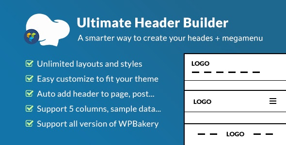 Download free Ultimate Header Builder v1.6.1 – Addon WPBakery Page Builder