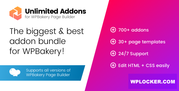 Download free Unlimited Addons for WPBakery Page Builder v1.0.41