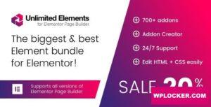 Download free Unlimited Elements for Elementor Page Builder v1.4.38