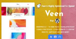 Download free Veen v1.2.3 – Minimal & Lightweight Blog for WordPress