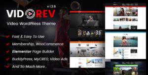 Download free VidoRev v2.9.9.9.6.1 – Video WordPress Theme