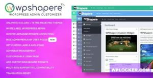 Download free WPShapere v6.1.4 – WordPress Admin Theme