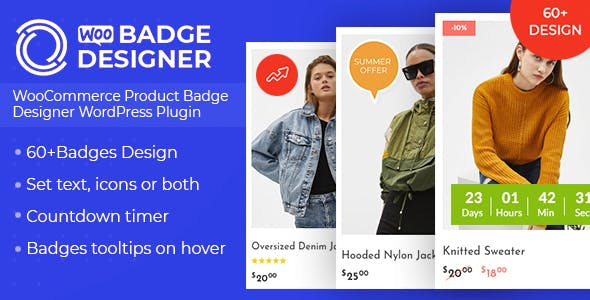 Download free Woo Badge Designer v3.0.0 – WooCommerce Product Badge Designer WordPress Plugin