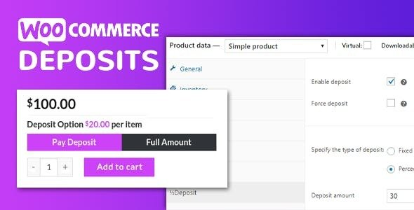 Download free WooCommerce Deposits v2.5.36 – Partial Payments Plugin