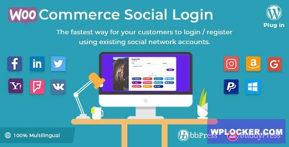 Download free WooCommerce Social Login v2.2.2 – WordPress plugin
