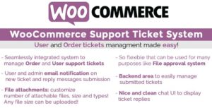 Download free WooCommerce Support Ticket System v1.2.6