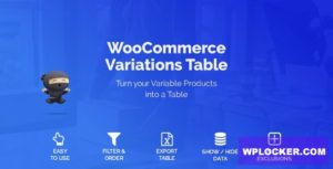 Download free WooCommerce Variations Table v1.2.16