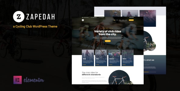 Download free Zapedah v1.0 – Cycling Club WordPress Theme